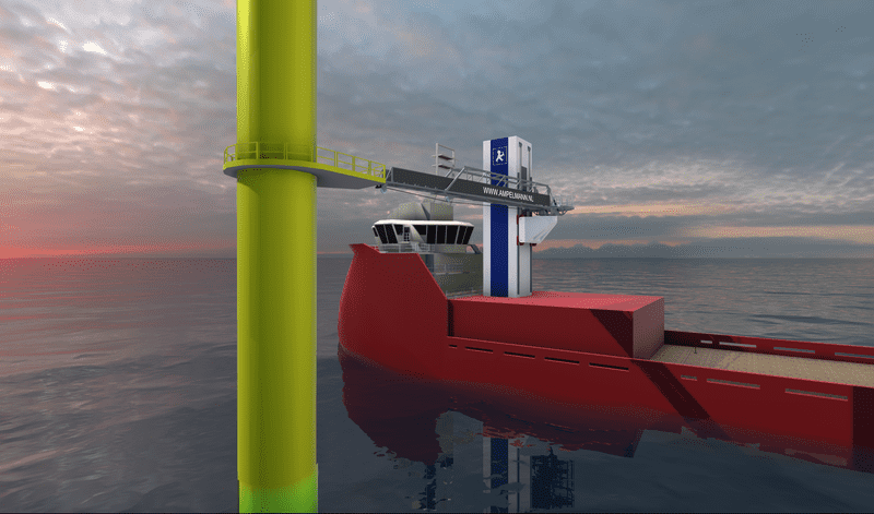 Ampelmann Offshore Wind SOV system 2020